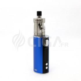Cigarette électronique iStick T80 bleu avec clearomiseur Zenith.