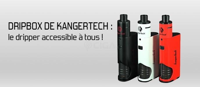 Dripbox de Kangertech : le dripper accessible à tous et avec autonomie !