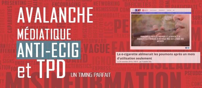 Avalanche médiatique anti-ecig et TPD : un timing parfait